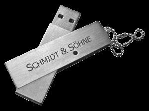 MemoTrek Vertrieb Twister USB-Stick aus Metall Iron Twister USB-Stick Produktfoto