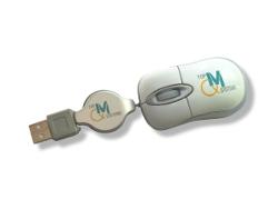 Bedrucken Sie die USB Maus mit Ihrem Logo doppelt.