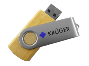 MemoTrek Vertrieb Twister USB-Stick aus Holz Produktbild Holzstick Wooden Swivel