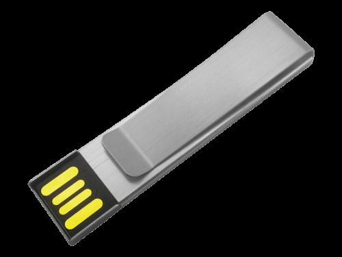 MemoTrek Vertrieb Farbiger USB-Metallstick Slimline Clip Produktfoto