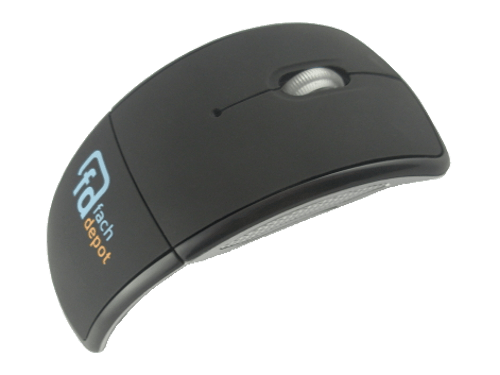 MemoTrek Vertrieb Klappbare USB-Funkmaus Flip Mouse Produktfoto