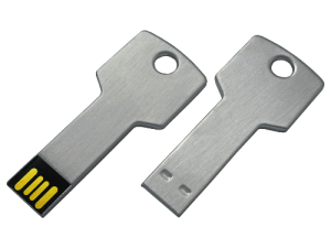 MemoTrek Vertrieb Metallstick Schluesselform Metal Key Produktfoto