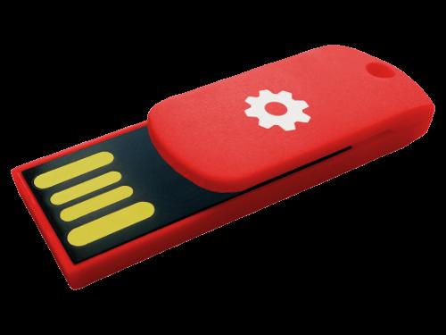 MemoTrek Vertrieb farbiger USB-Ministick mit COB-Chip Color Clipper Produktfoto