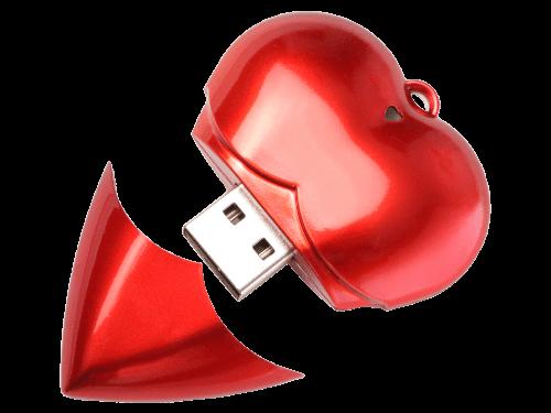 Memory Heart Valentinstag USB-Stick Herzform Produktfoto MemoTrek Vertrieb