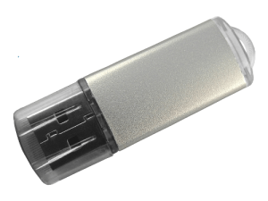 MemoTrek Vertrieb Eloxal USB-Stick Kunstoffstick Metalloberfläche Lucent Stick Produktfoto