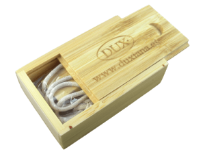 MemoTrek Vertrieb USB-Holzverpackung Bambus BambooBox Slider Produktfoto