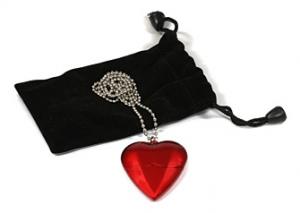 USB-Herz mit Samtkette Foto