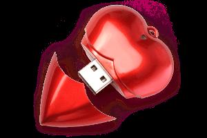 MemoTrek USB Heart Valentinstag Foto