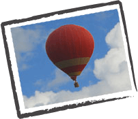 Romanrische Orte Memotrek  Heißluftballon