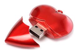 USB-Memory Heart von MemoTrek Foto